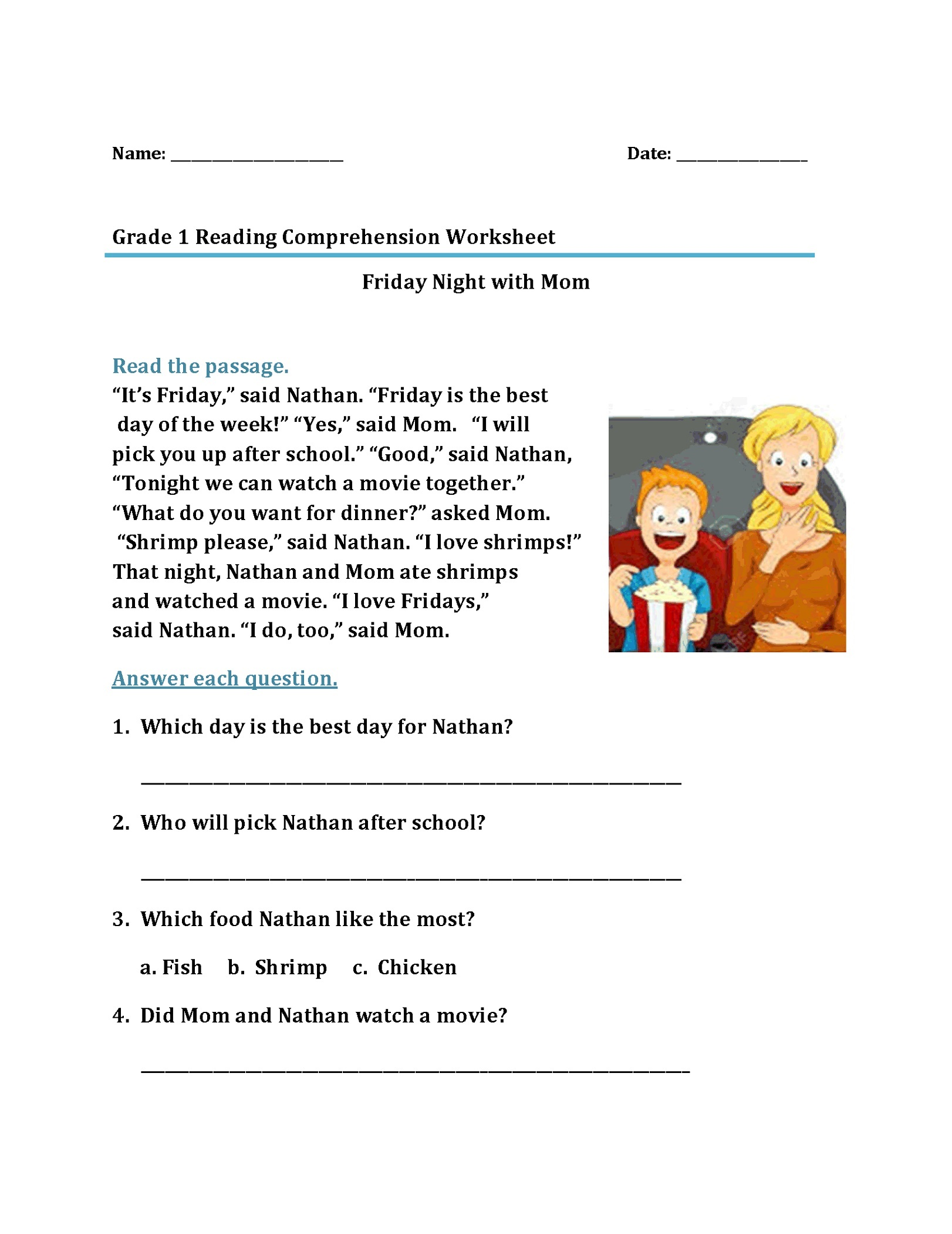 Cold Reading Worksheet