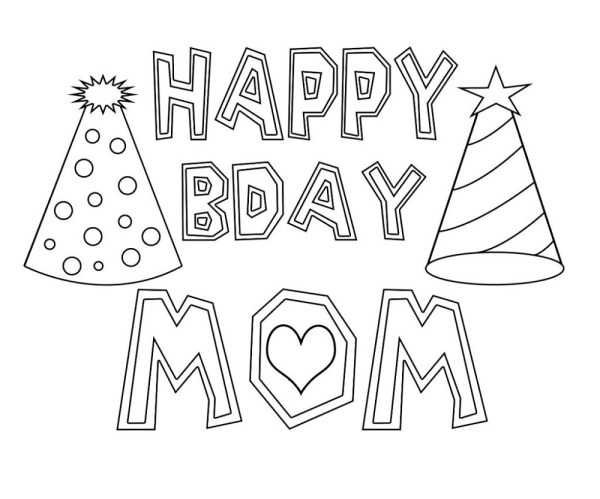 happy birthday mom coloring pages # 69