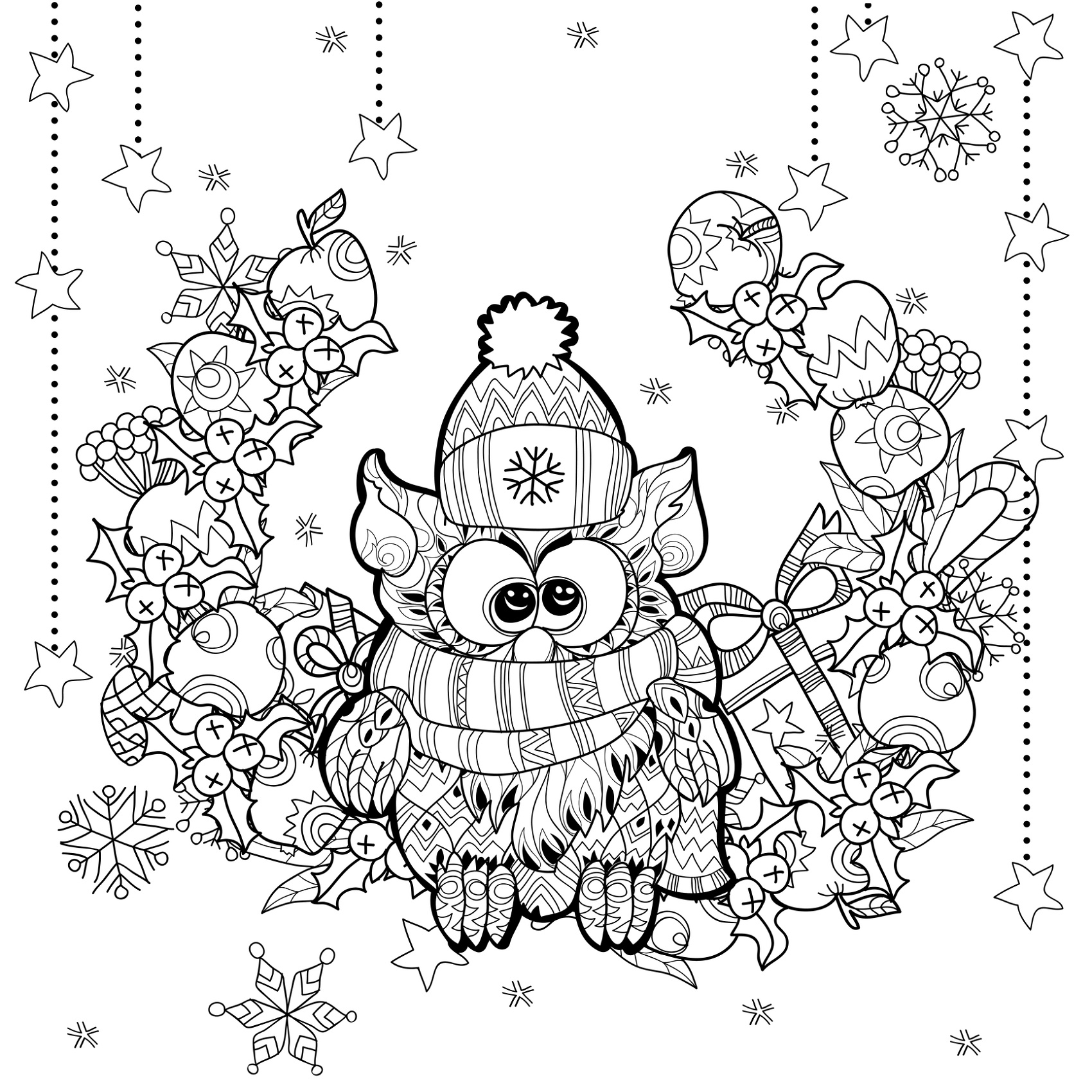 Holiday Coloring Pages For Adults
