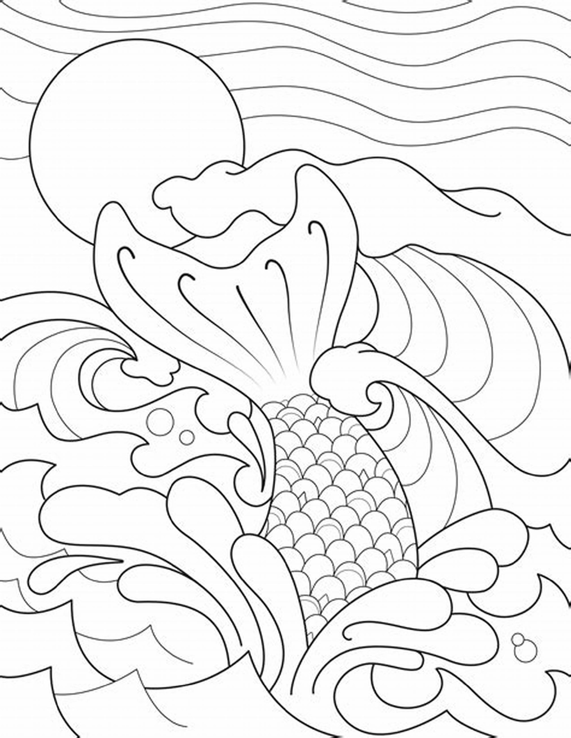 Mermaid Tail Sheets Coloring Pages