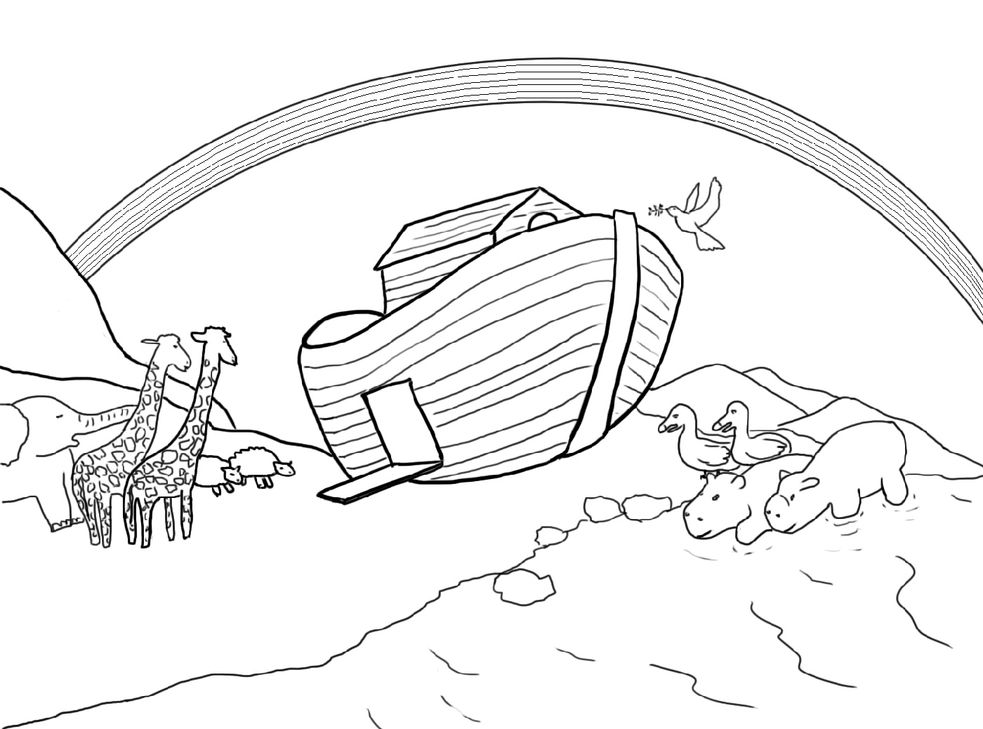 Noah S Ark Coloring Page Bible K5 Worksheets