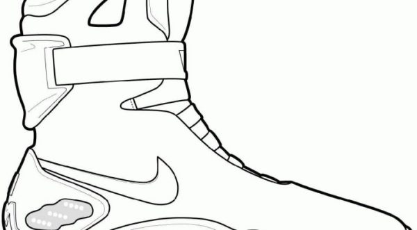 jordan shoe coloring pages # 16