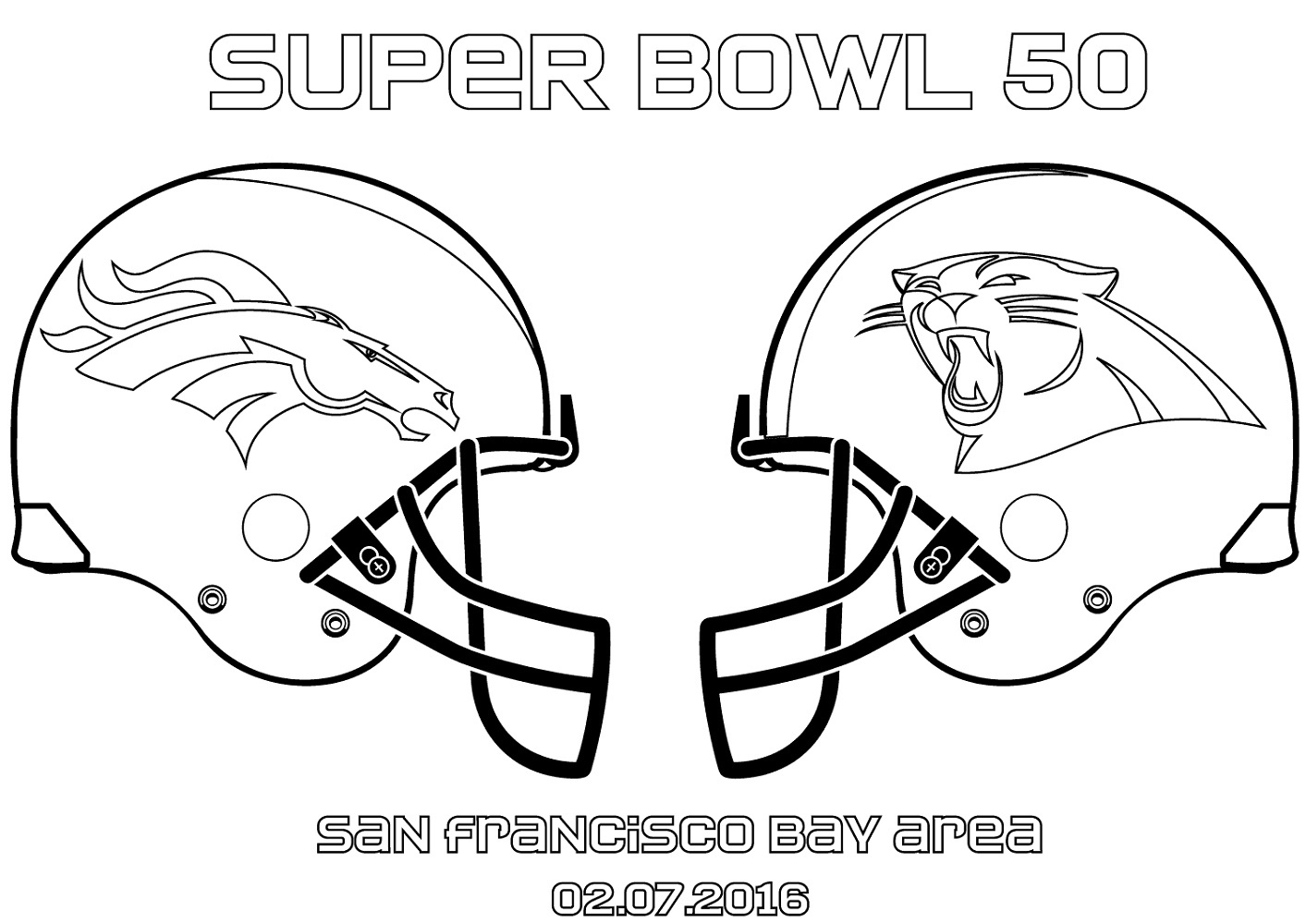 Broncos Coloring Pages