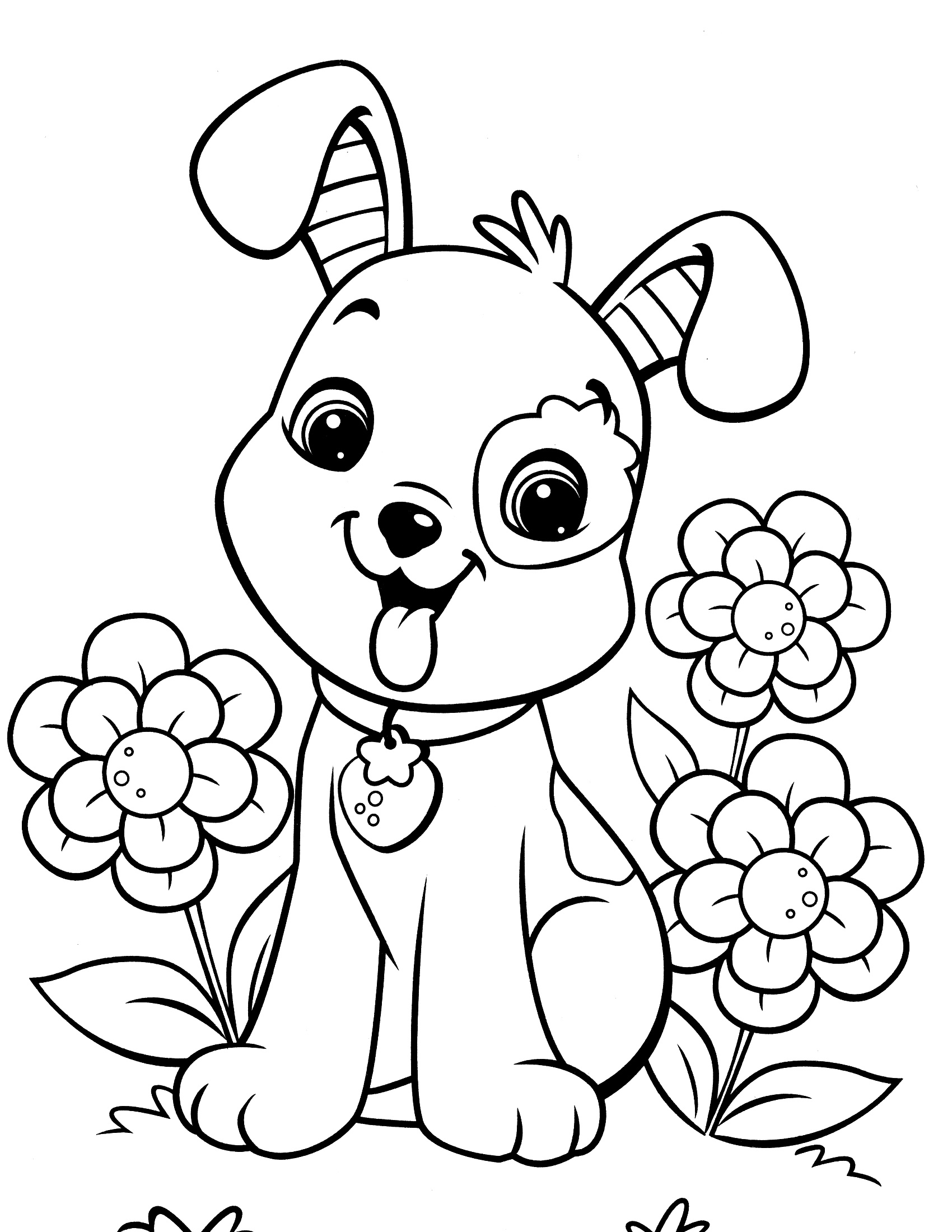 Dog Coloring Pages For Girls K5 Worksheets
