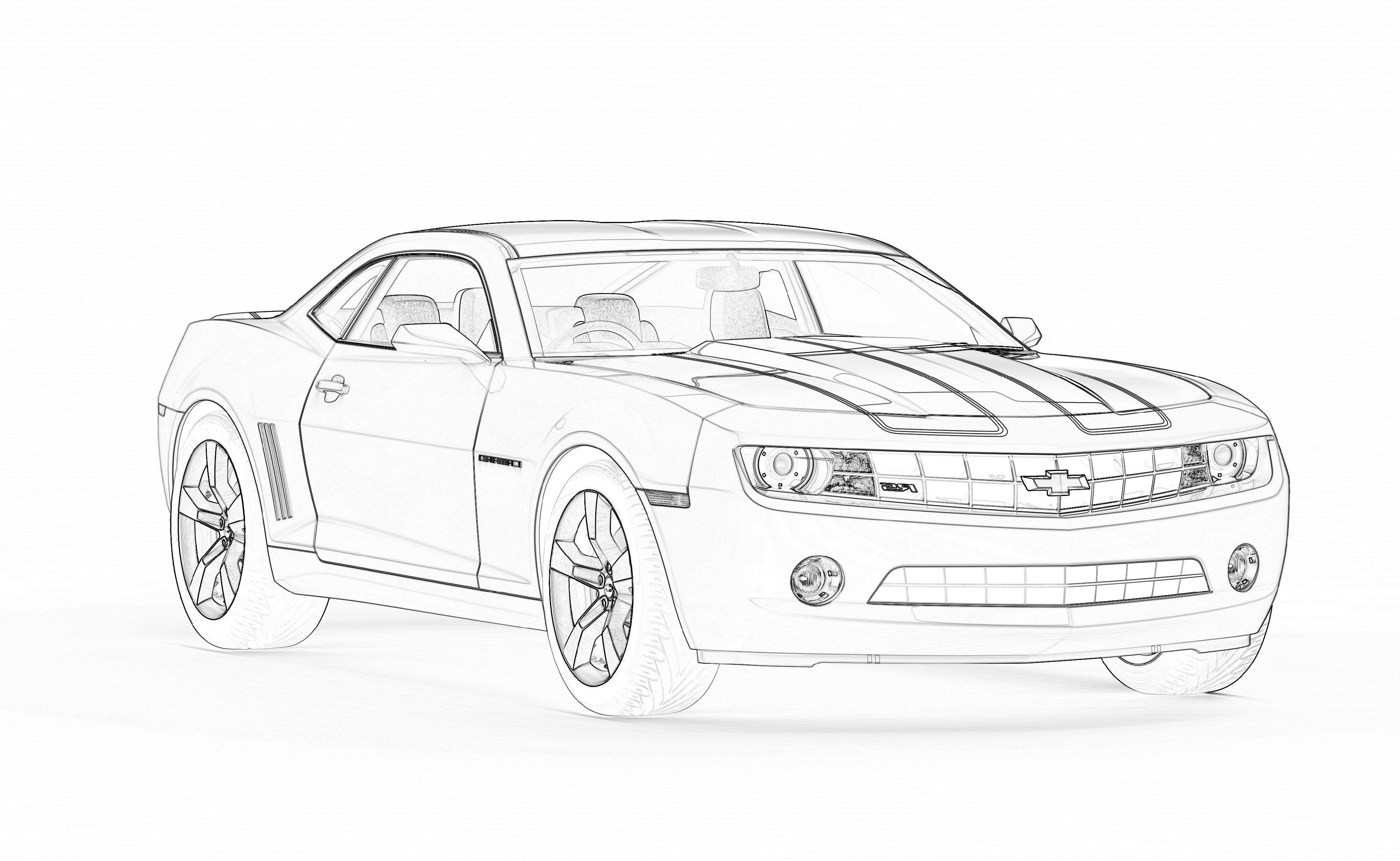 Camaro Coloring Pages To Print