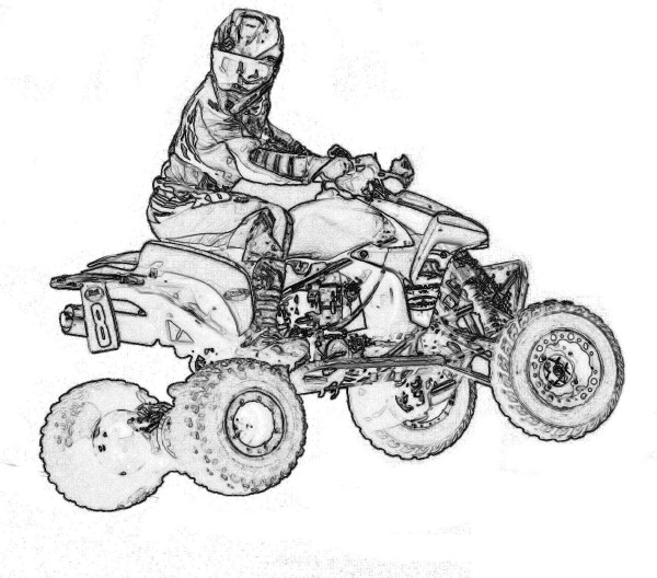 four wheeler coloring pages # 35