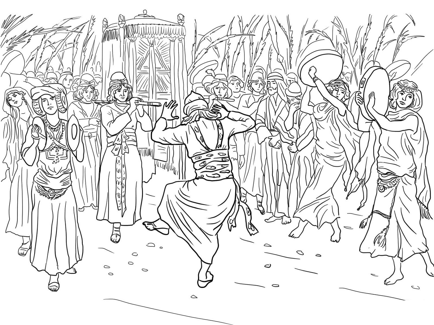 King David Coloring Pages