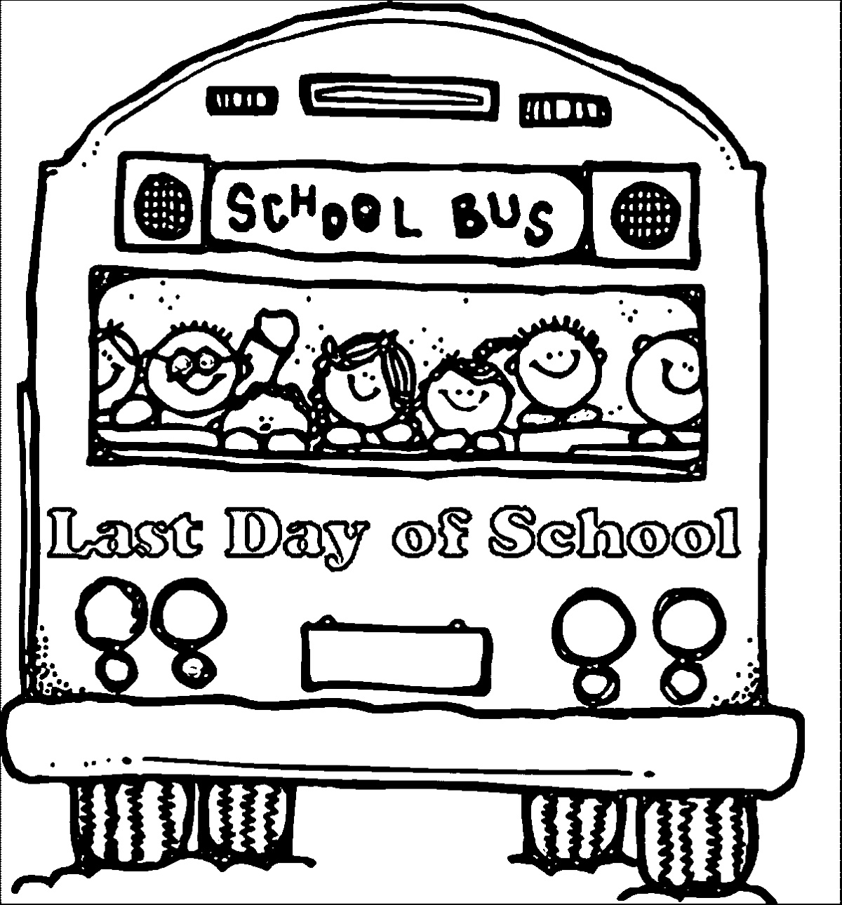 Last Day Of School Coloring Pages Free