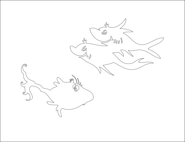one fish two fish coloring pages # 28