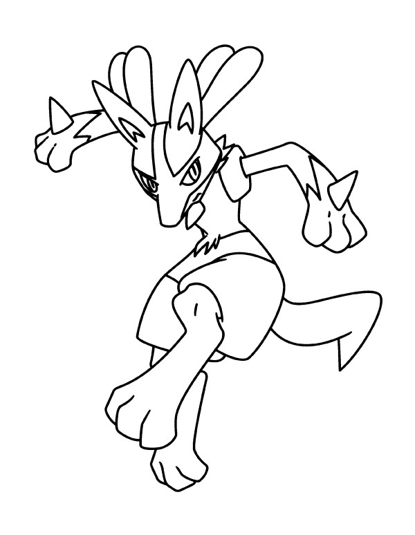 pokemon coloring pages lucario # 51