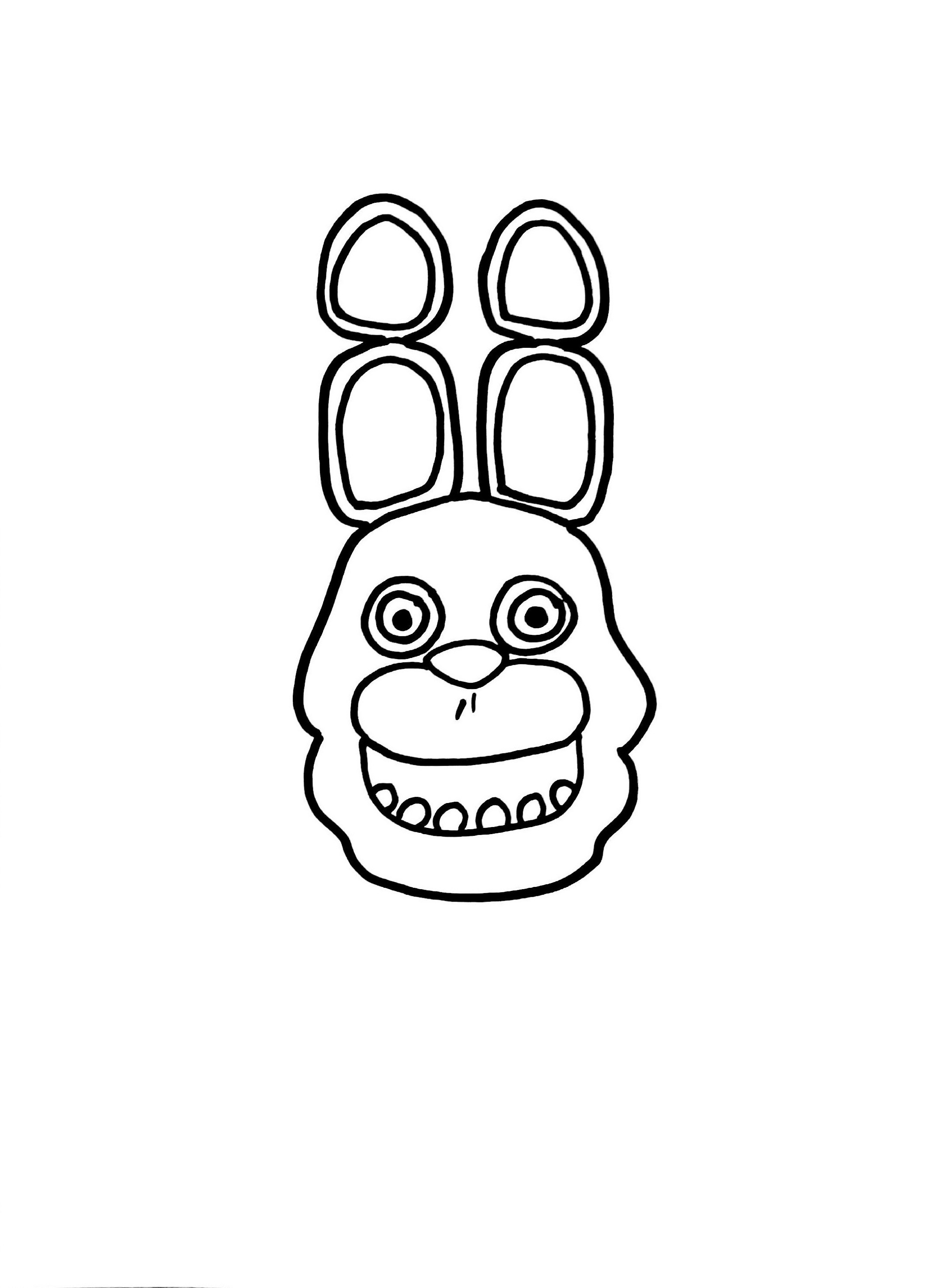 Five Nights At Freddy S Coloring Bonnie The Bunny