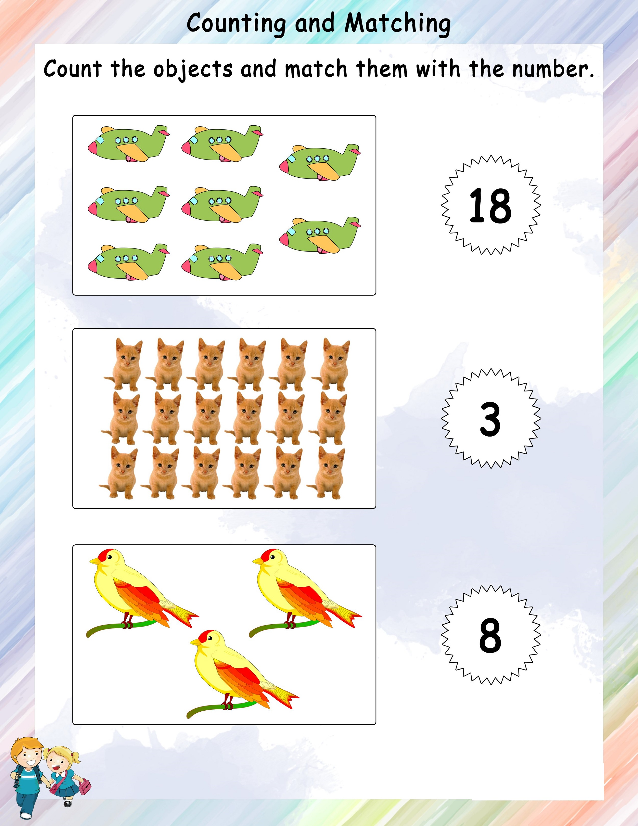 Free Math Worksheets To Print All Themes