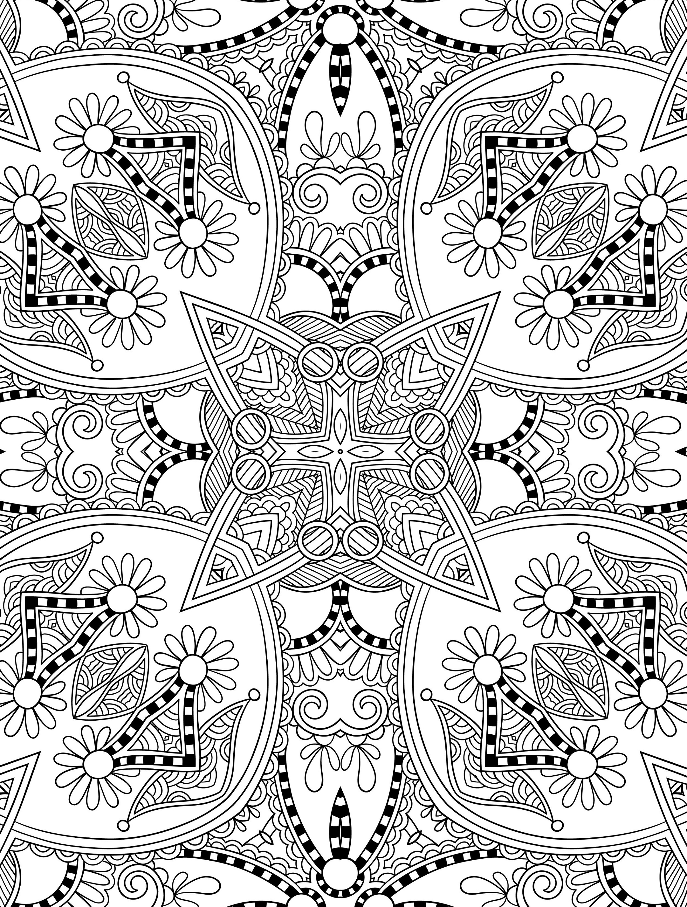 Free Printable Coloring Pages For Adults Advanced Abstract