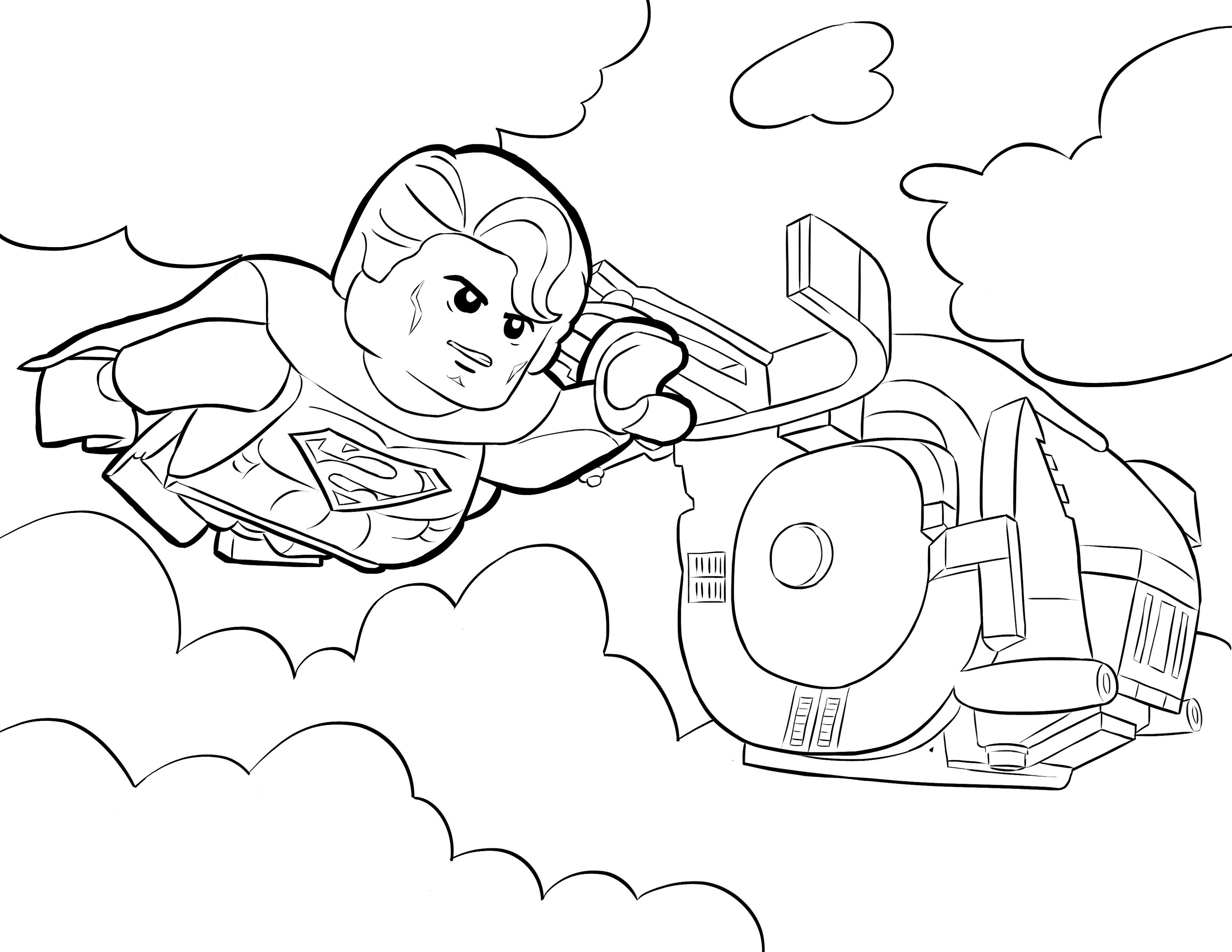 Lego Superman Coloring Pageslego Superman Coloring Pages