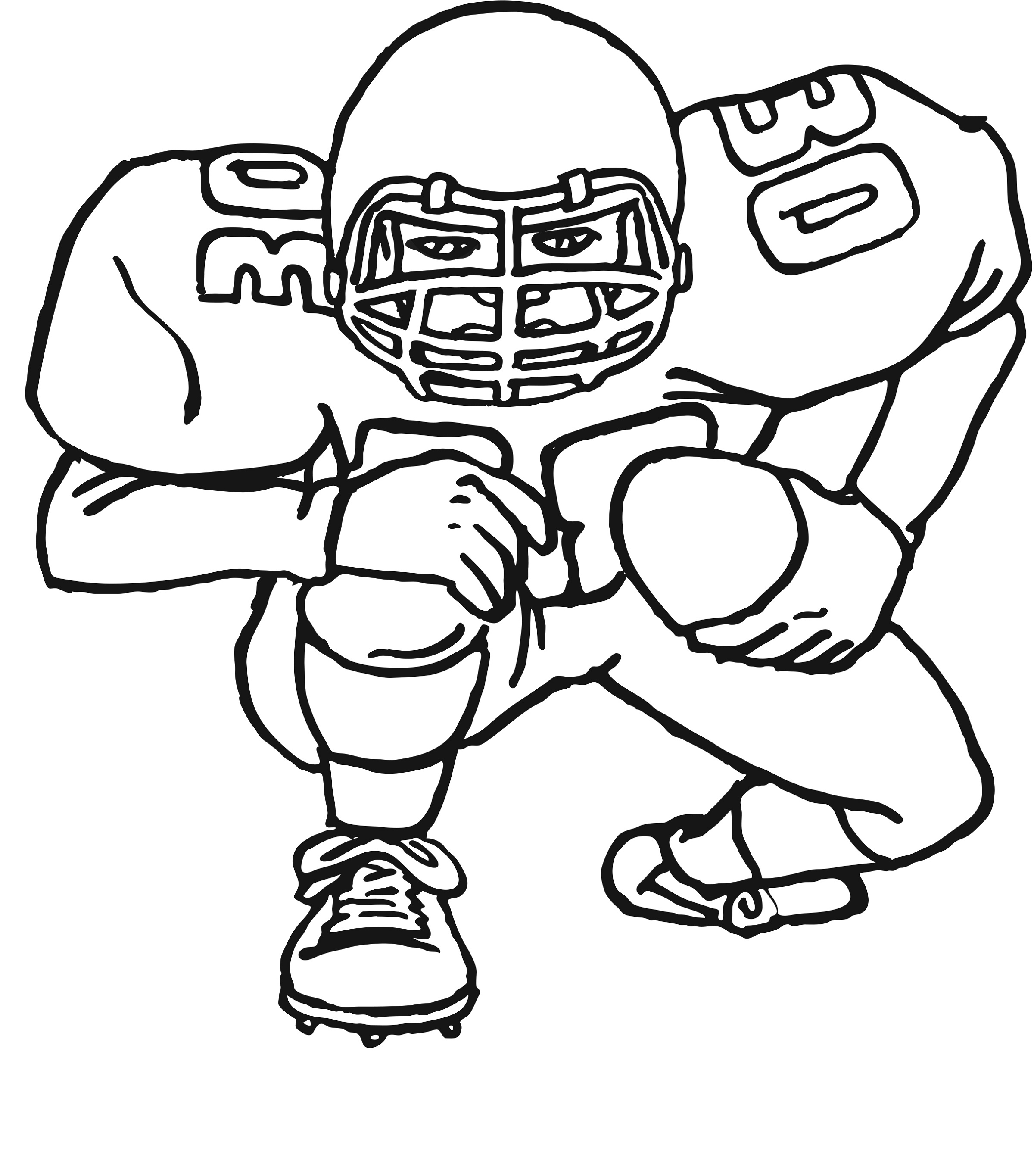 Julio Jones coloring page | Free Printable Coloring Pages | 2729x2400