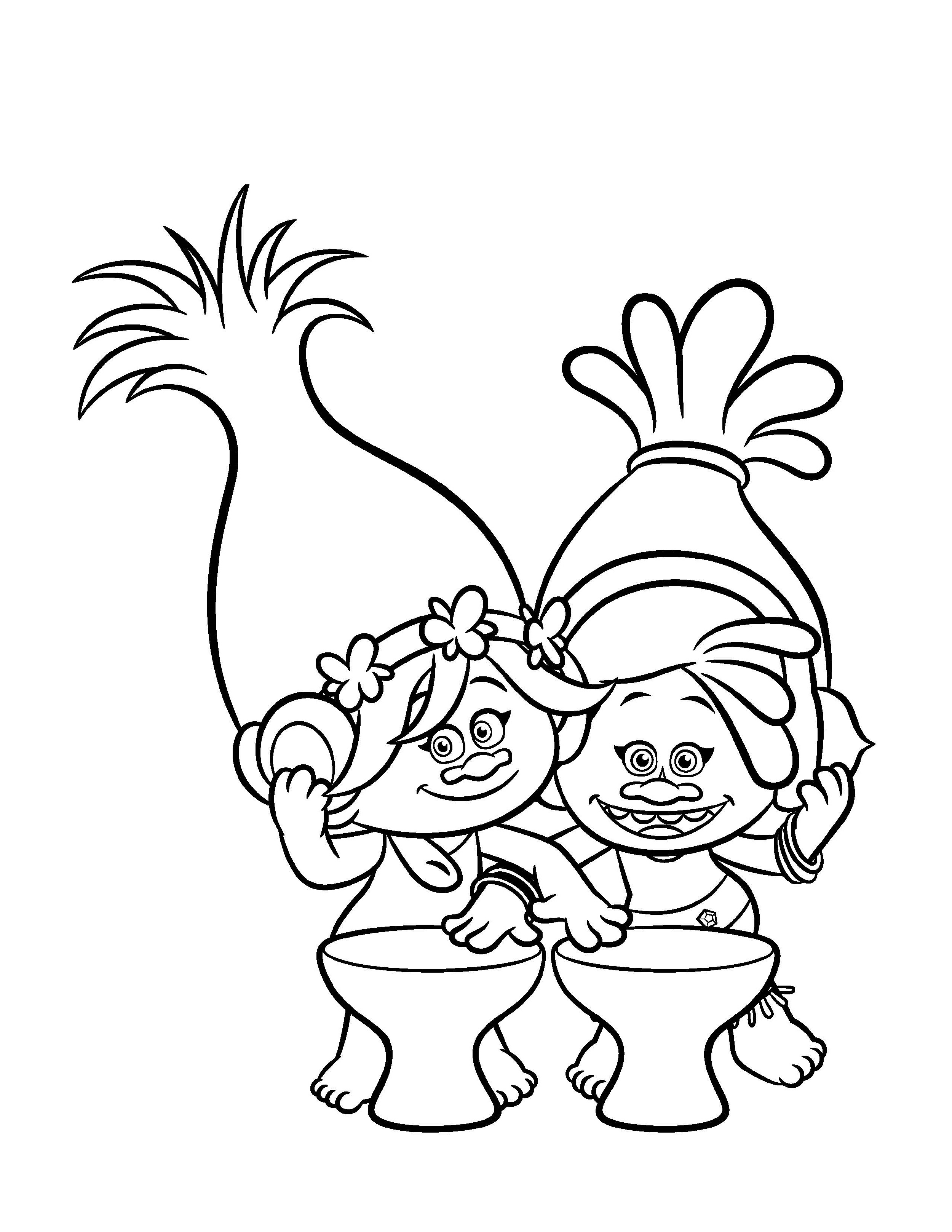 Princess Poppy Coloring Page For All Themes