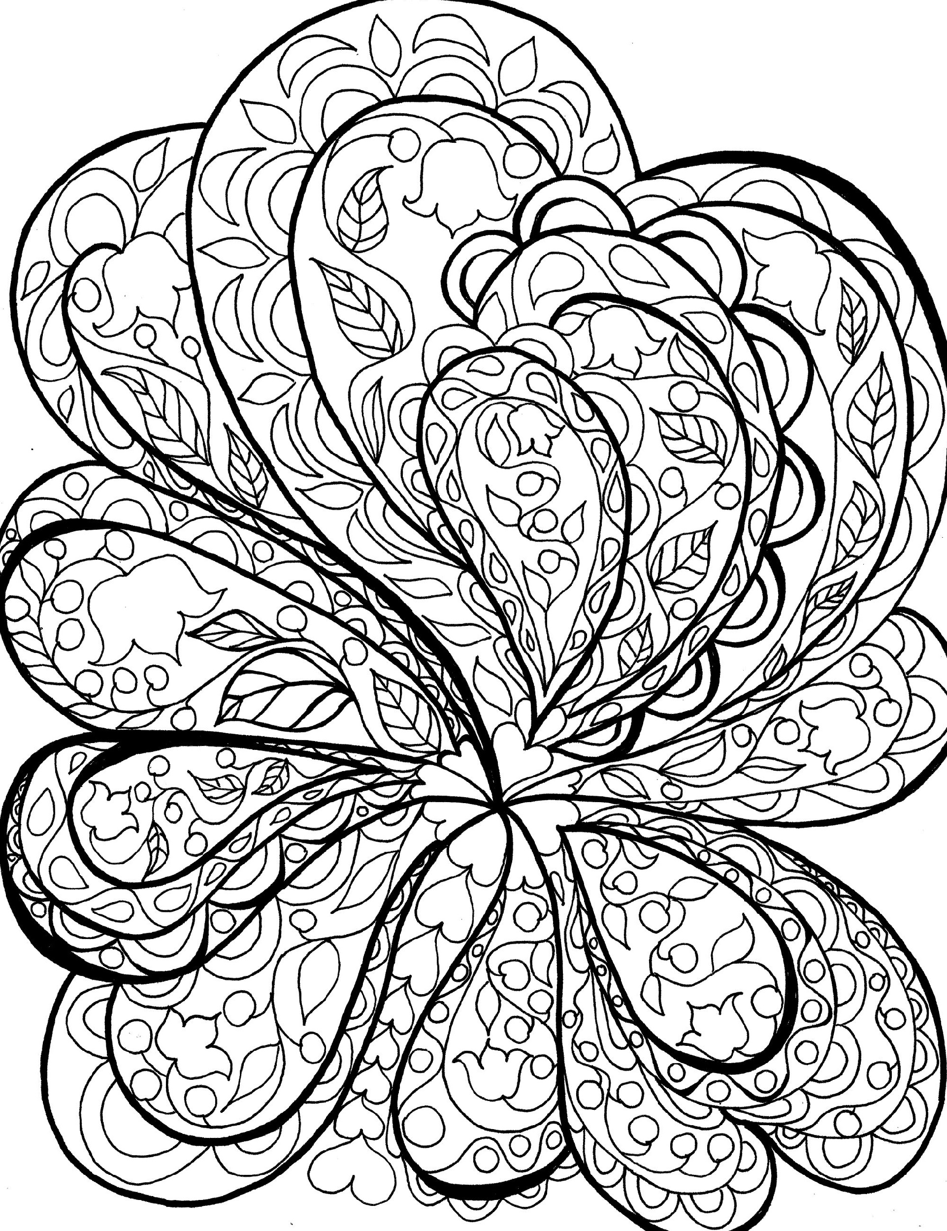 Printable Coloring Pages For Adults Abstract