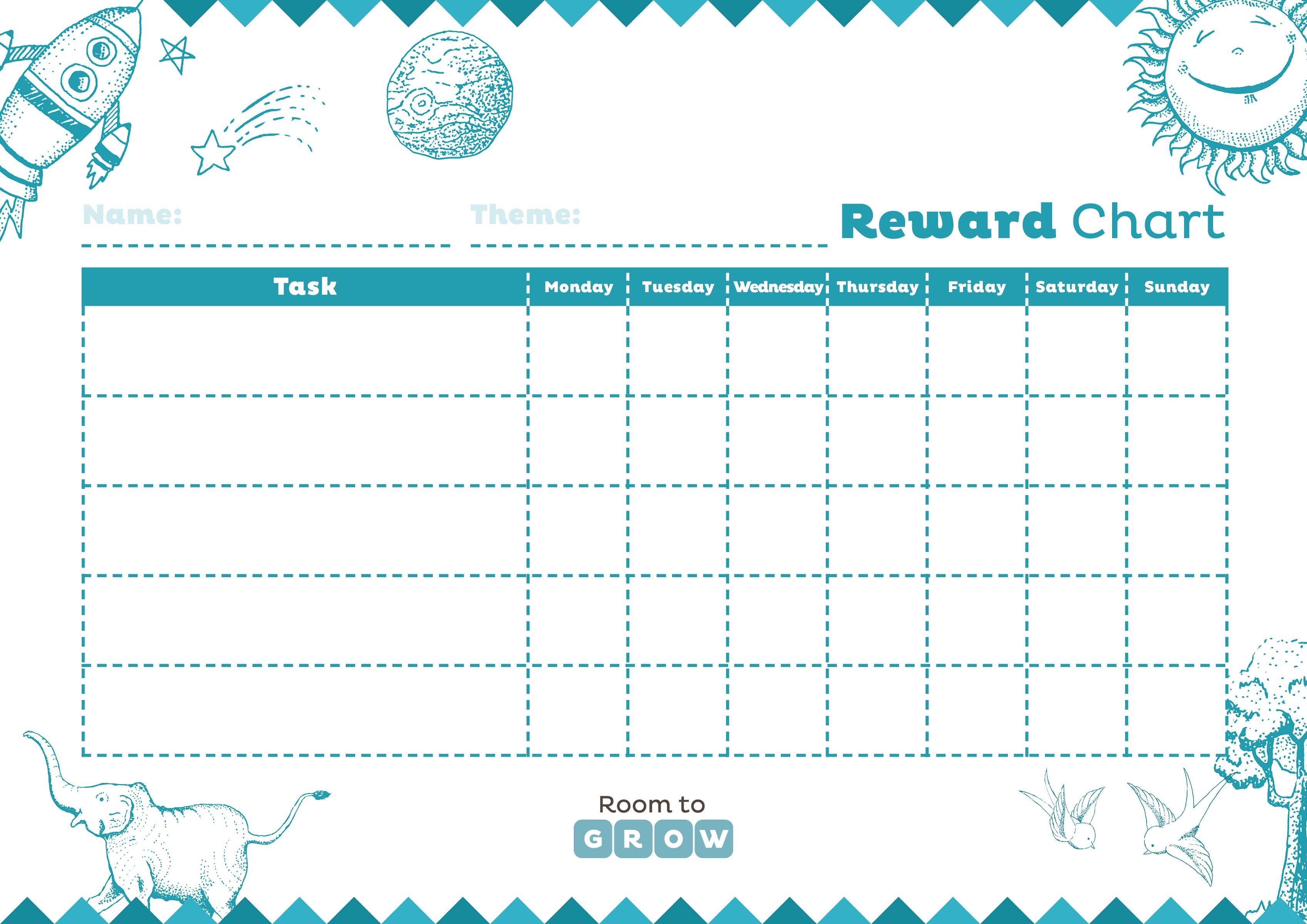 Printable Reward Charts Usable