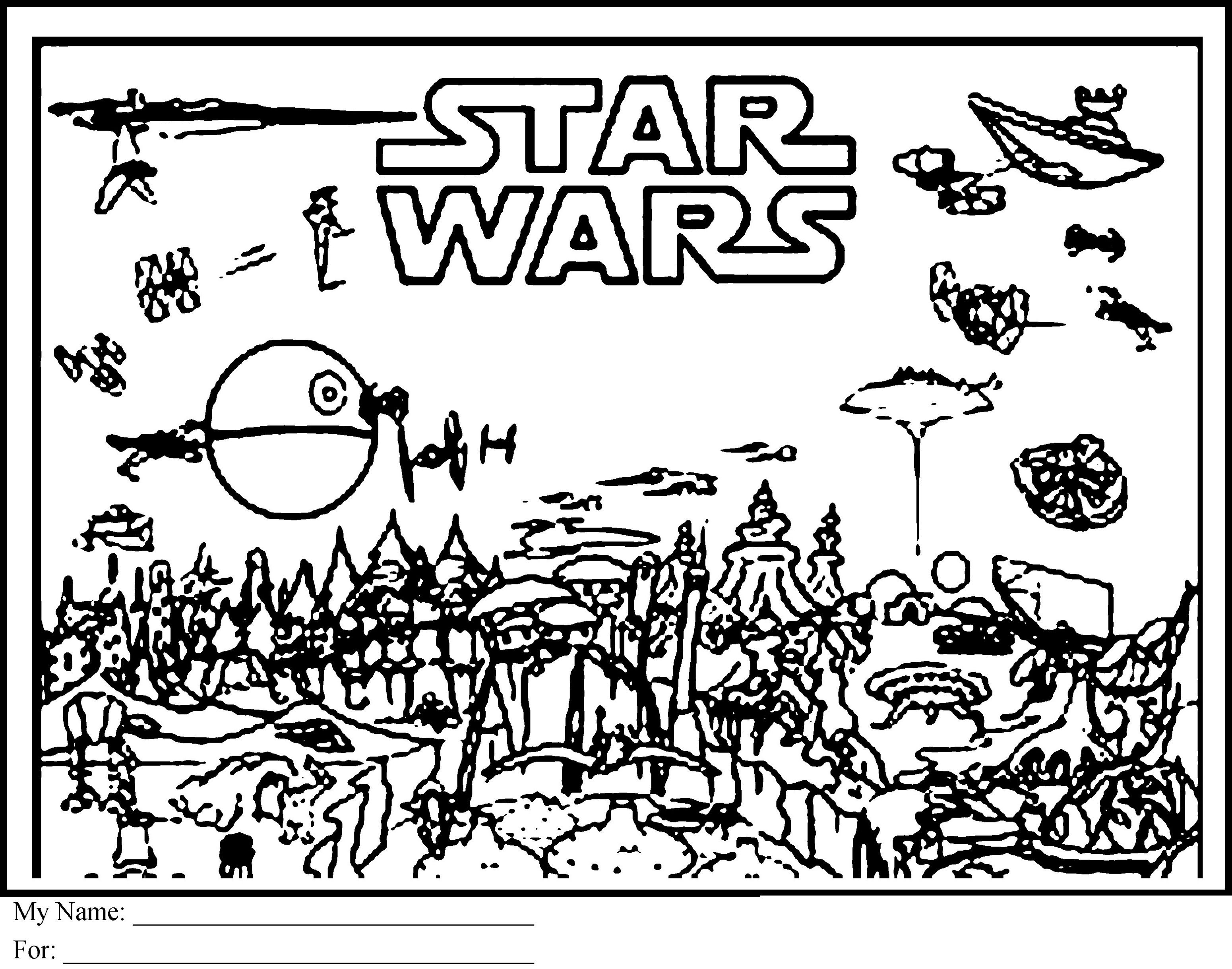 Rogue One Coloring Pages Printable Downloadable