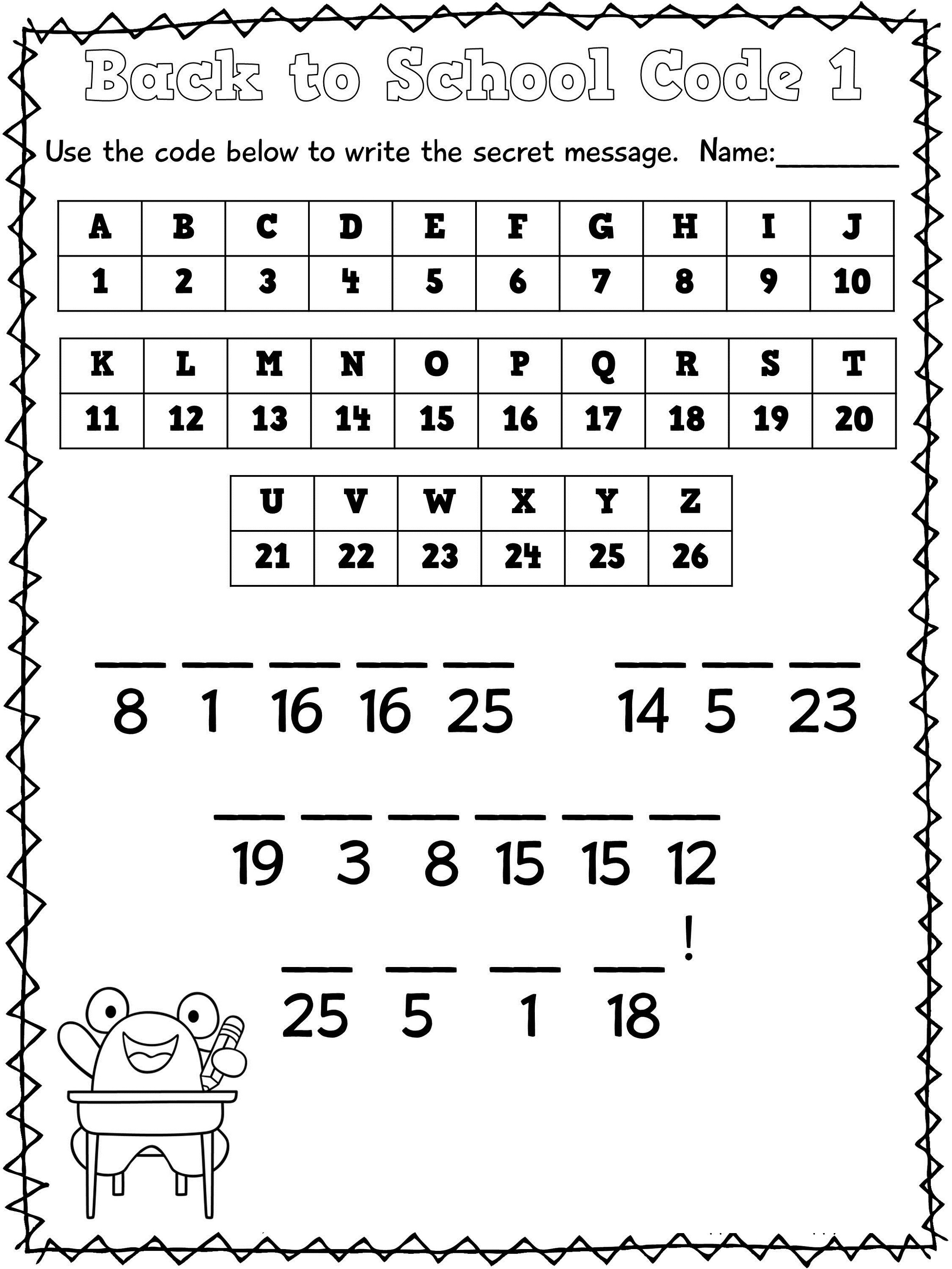 School Math Worksheets To Print 1st Grade