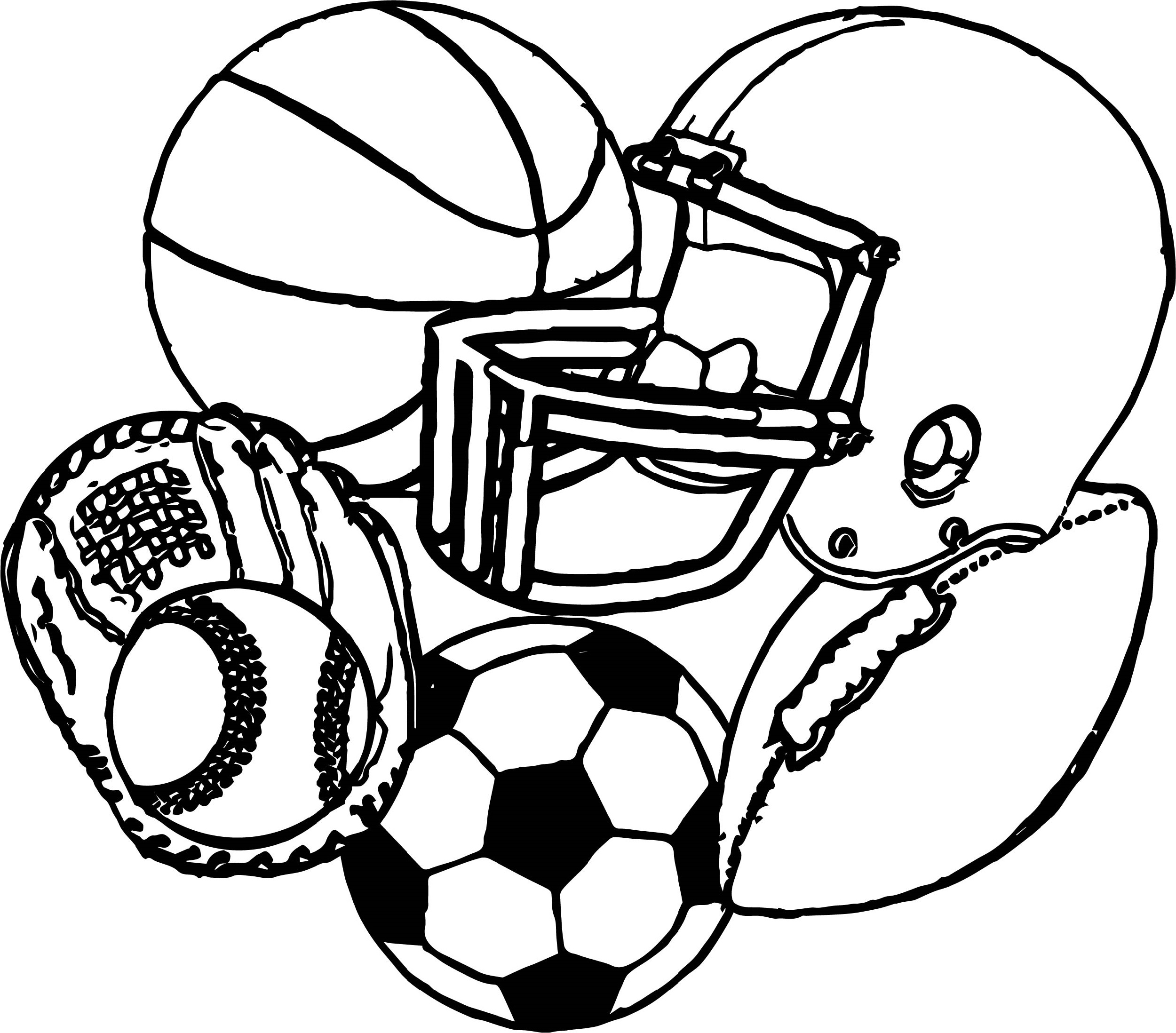 Sports Coloring Pages All Downloadable