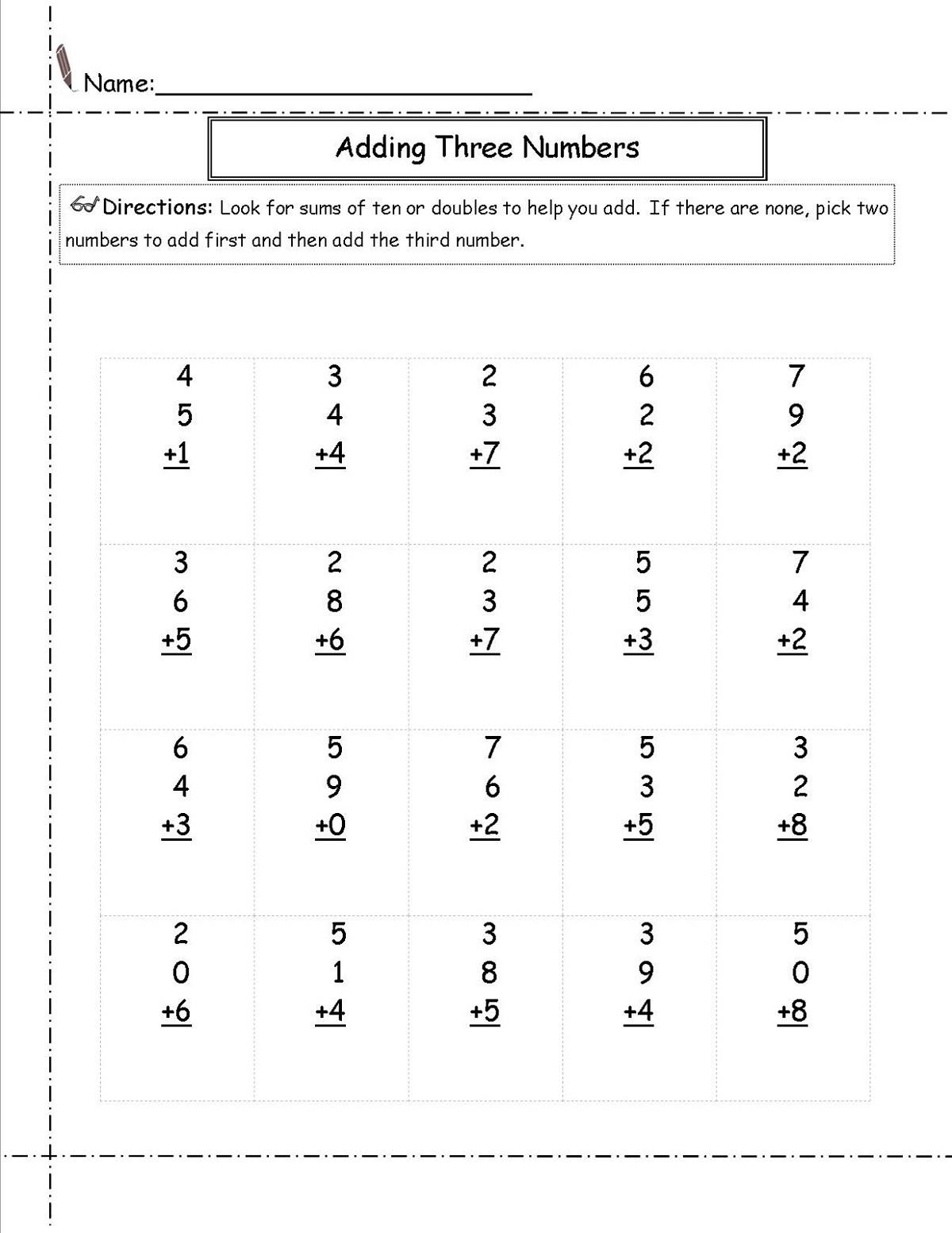 Grade 5 Math Worksheet Addition Worksheet K5 Learning