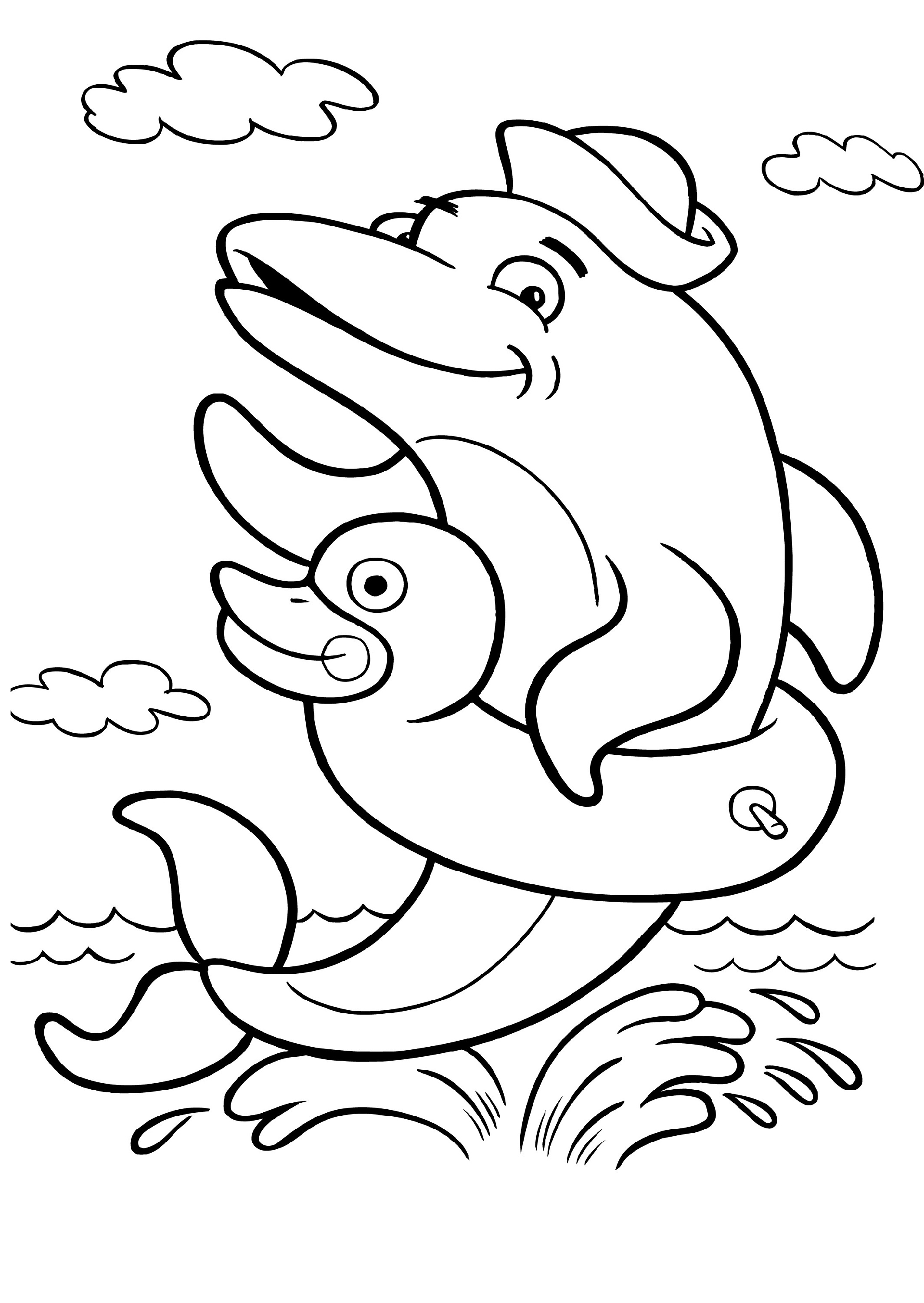 Dolphin Coloring Pages Animals K5 Worksheets