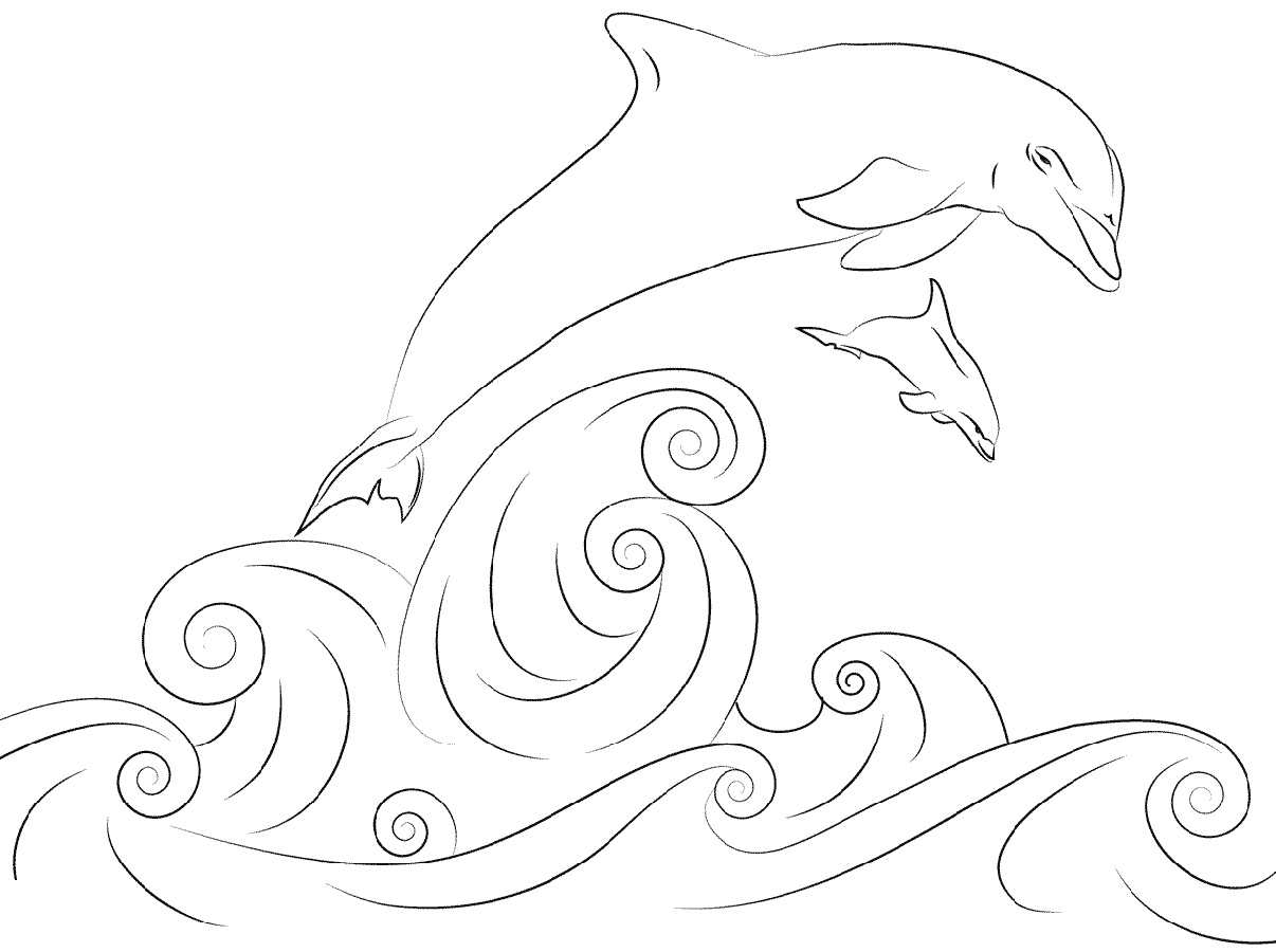 Dolphin Coloring Pages Printable K5 Worksheets