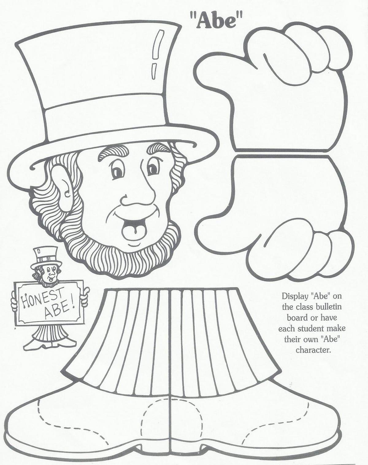 Dltk Crafts Lincoln Washington K5 Worksheets