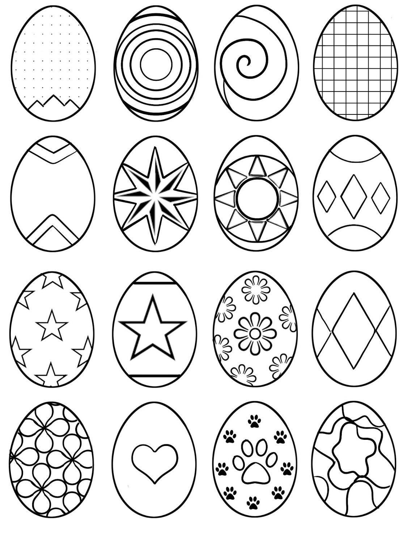 Easter Egg Coloring Ideas Printable K5 Worksheets