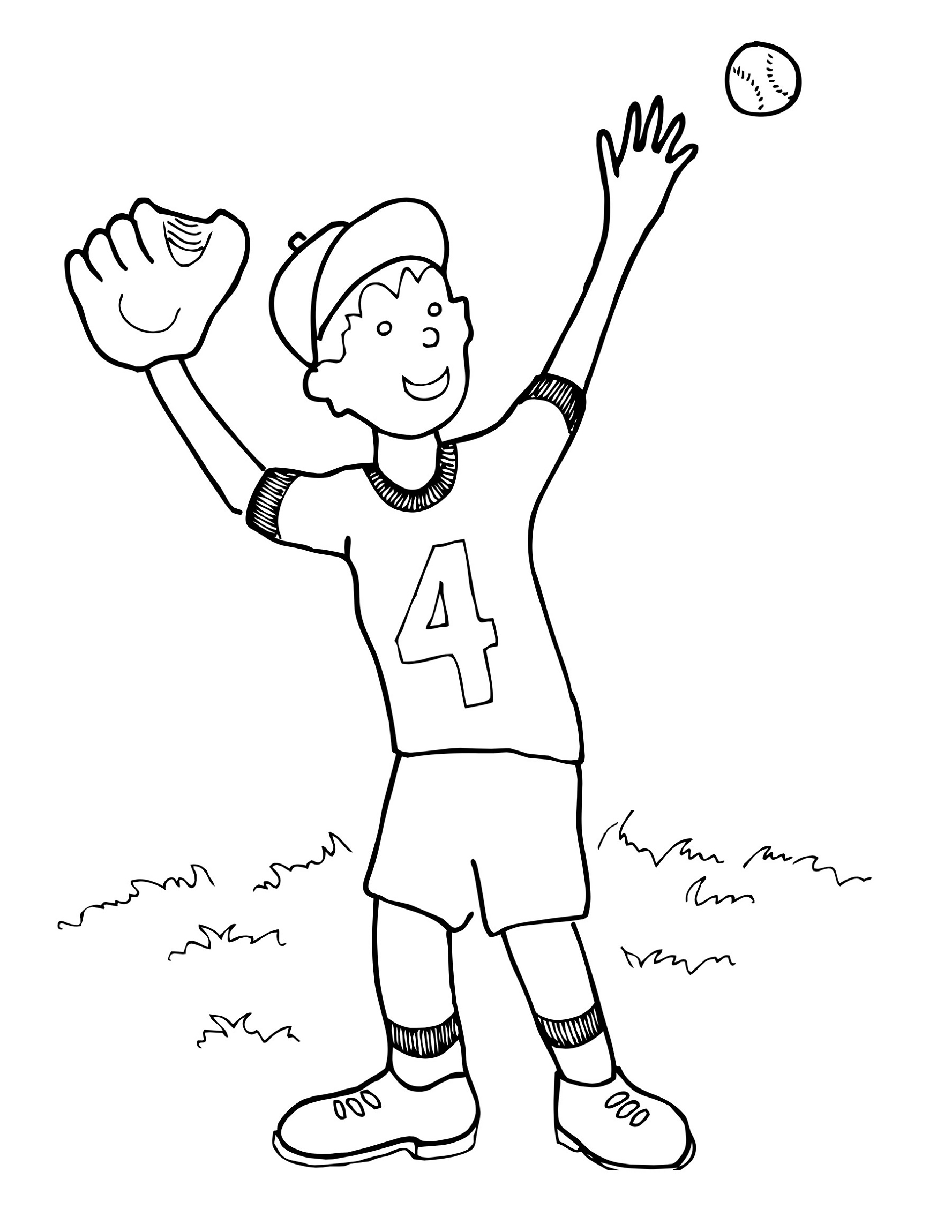 Baseball Coloring Pages Full Documents