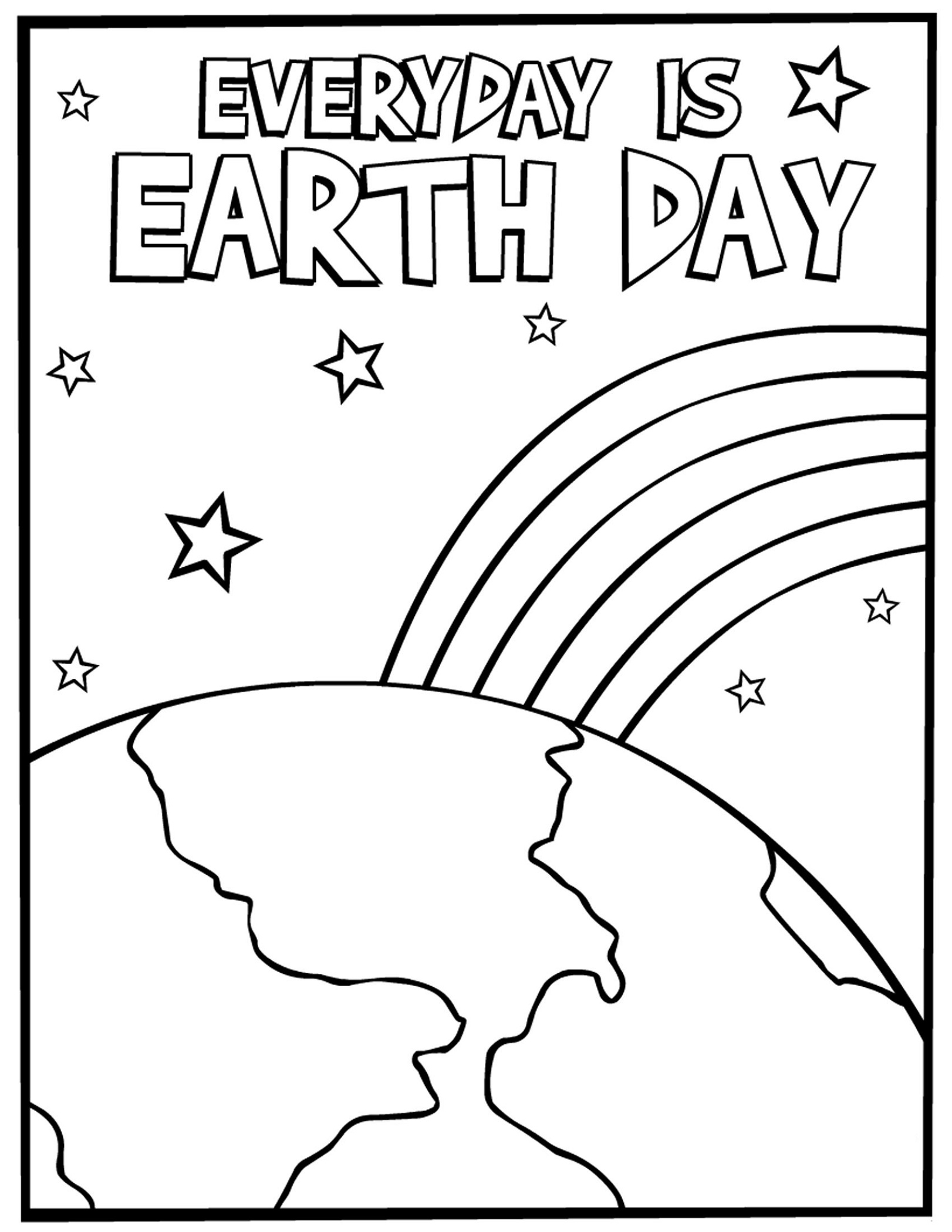 Earth Day Coloring Pages Printable