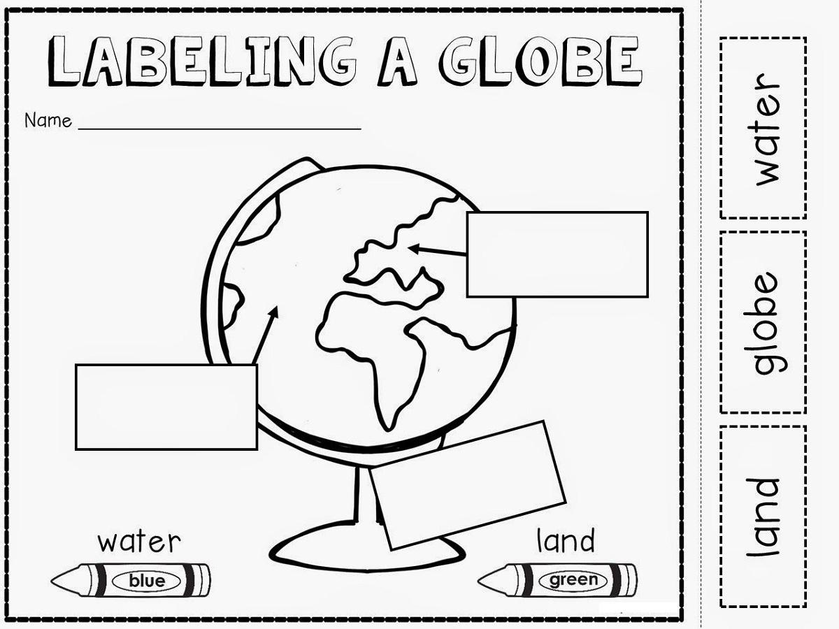 Geography Worksheets Globe K5 Worksheets