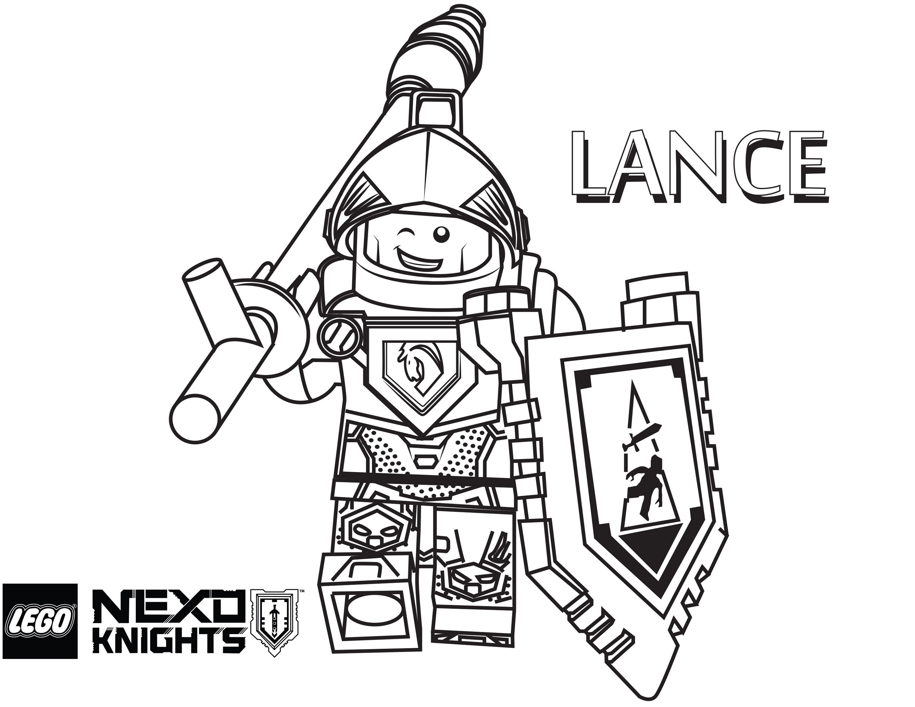 Lego Nexo Knights Coloring Pages Aaron