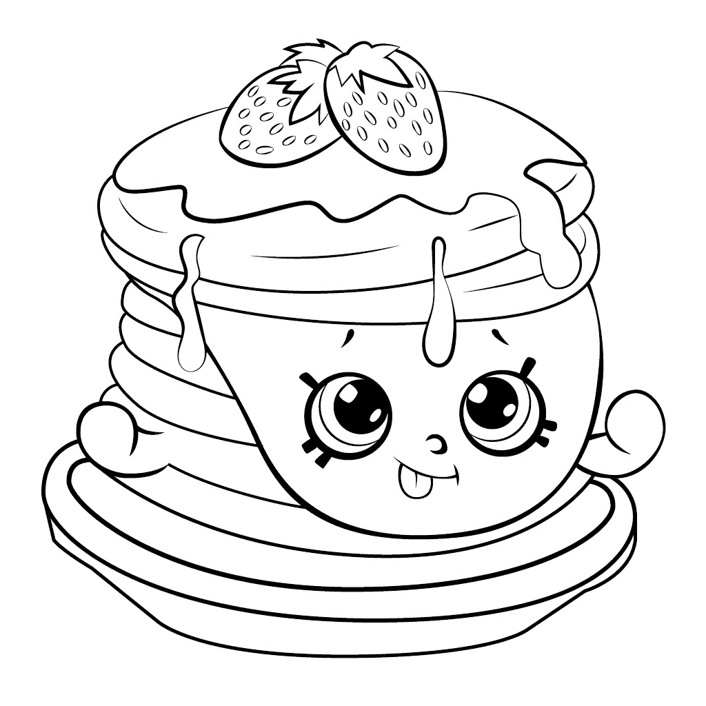 Shopkins Coloring Pages Apple Blossom