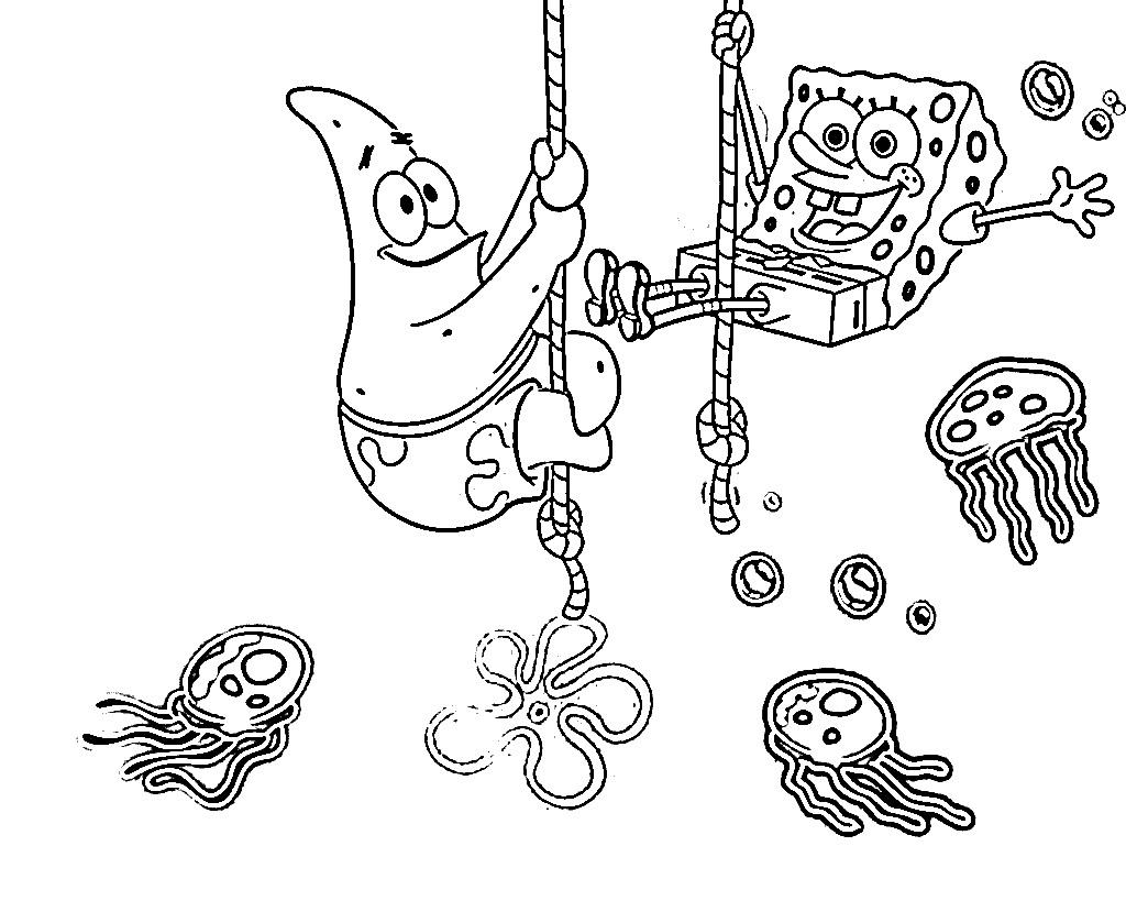Spongebob Coloring And Patrick