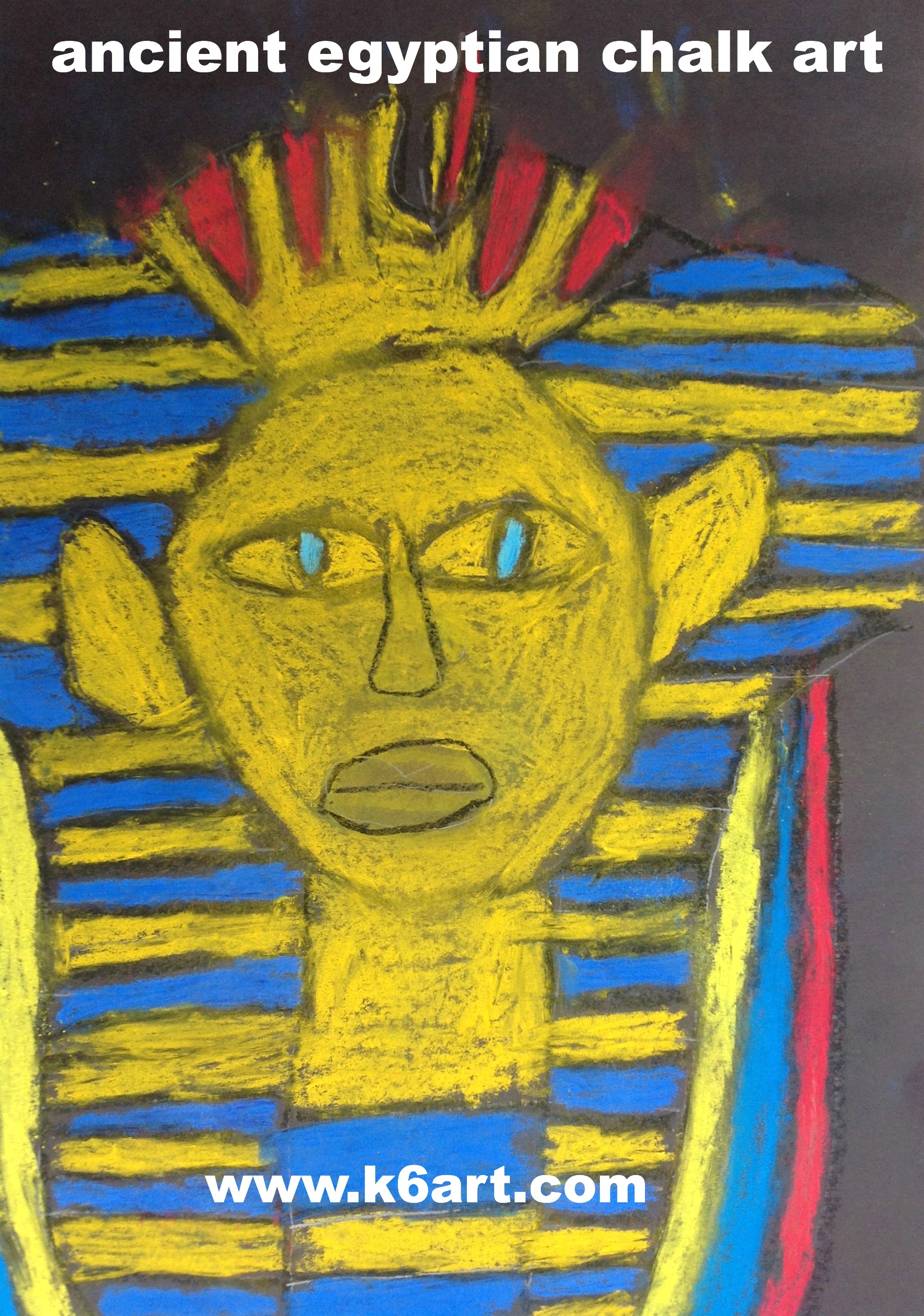 Ancient Egypt Chalk Art For Sixth Grade And Pinterest