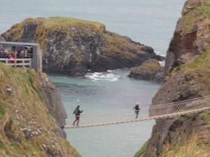 Carrick-a-Rede Rope Bridge. No, no one has ever died on it.