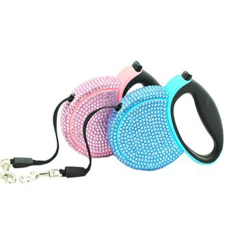 Crystal retractable dog leads from Canineandco