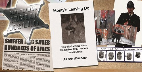 Police noticeboard Monty poster