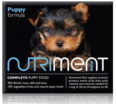 Nutriment raw puppy food (web)
