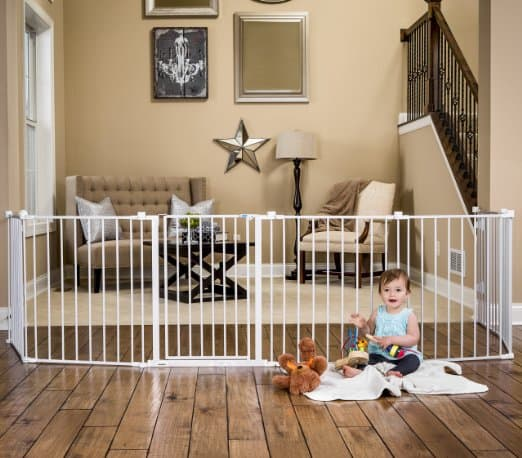 retractable dog gate extra wide