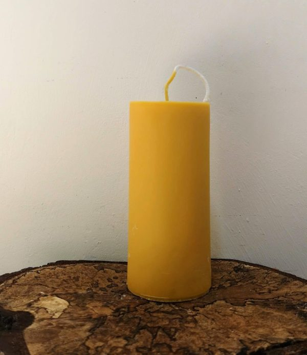 stompkaars koolzaadwas Ø 6.5 x 15 cm Indisch geel