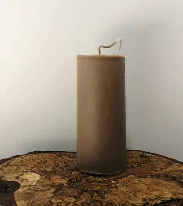 stompkaars koolzaadwas Ø 6.5 x 15 cm bruin
