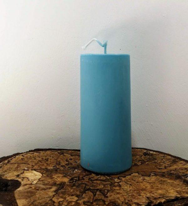 stompkaars koolzaadwas Ø 6.5 x 15 cm ercolano blauw