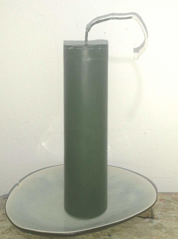 Druipkaars koolzaadwas Ø 4 cm x 15 cm midden groen