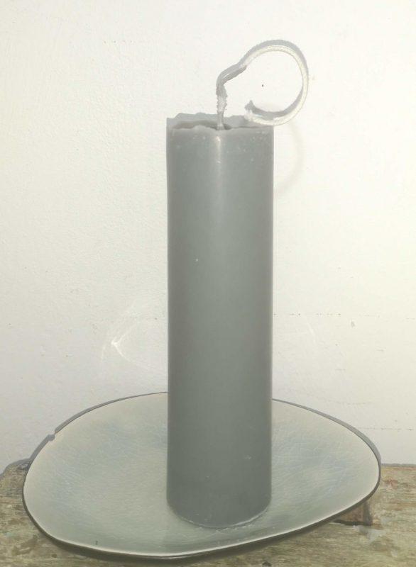 Druipkaars koolzaadwas Ø 4 cm x 15 cm ultramarijn grijs