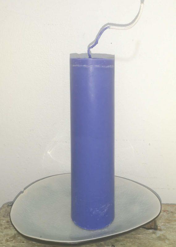 Druipkaars koolzaadwas Ø 4 cm x 15 cm ultramarijn blauw
