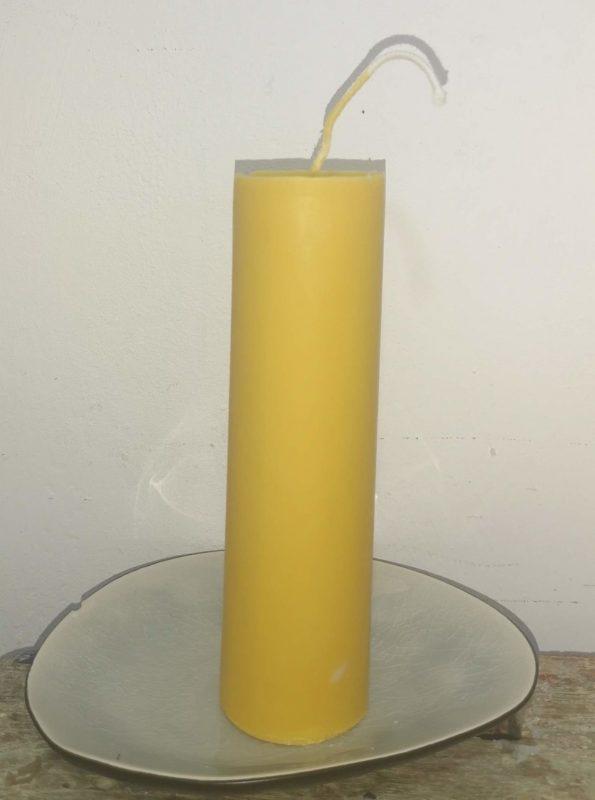 Druipkaarsen koolzaadwas Ø 4 cm x 15 cm Indisch geel