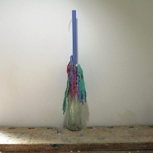Druipkaars koolzaadwas, ø 2 cm x 30 cm, blauw